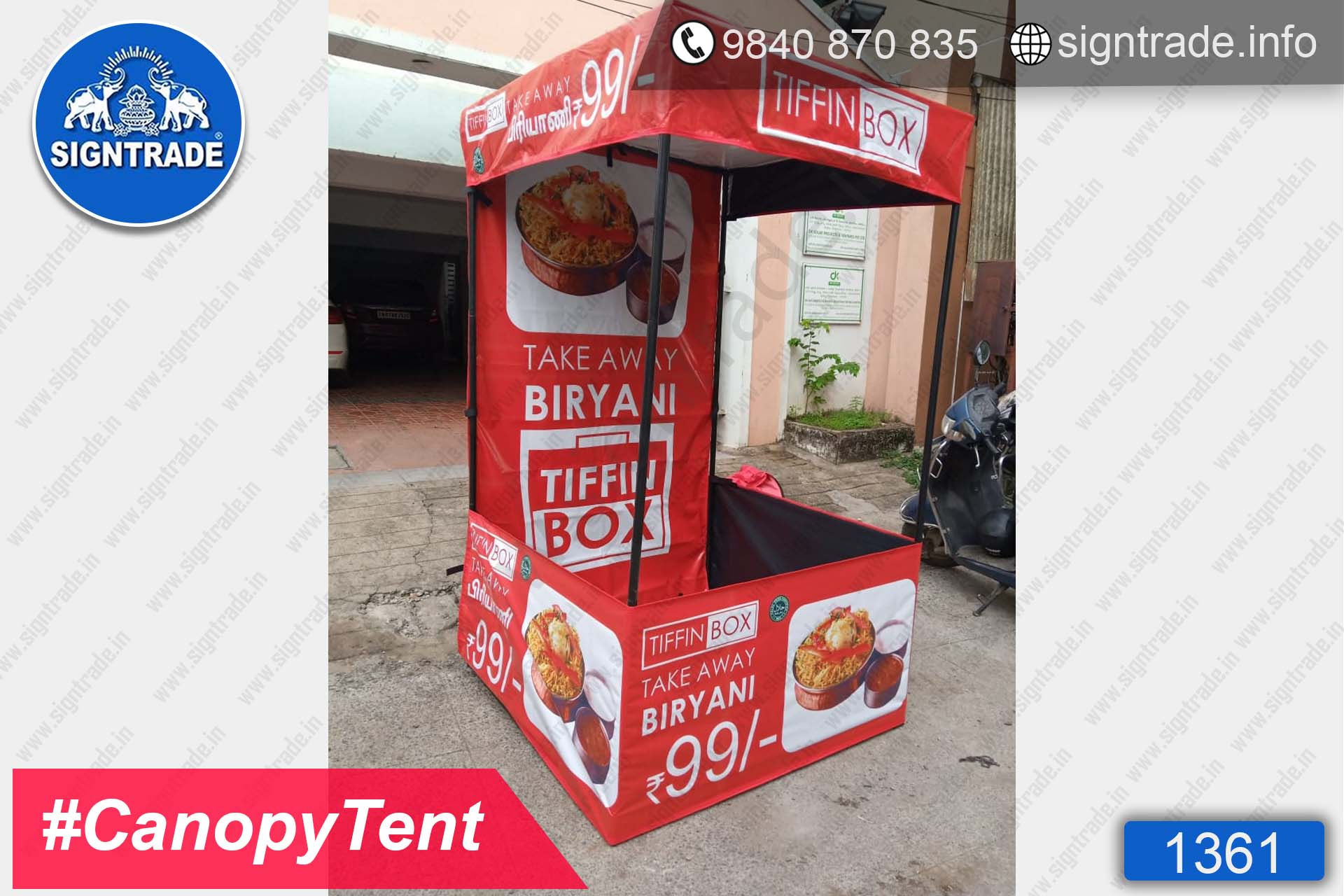 Tiffin Box Biryani - Chennai - SIGNTRADE - Canopy Tent Manufactures in Chennai