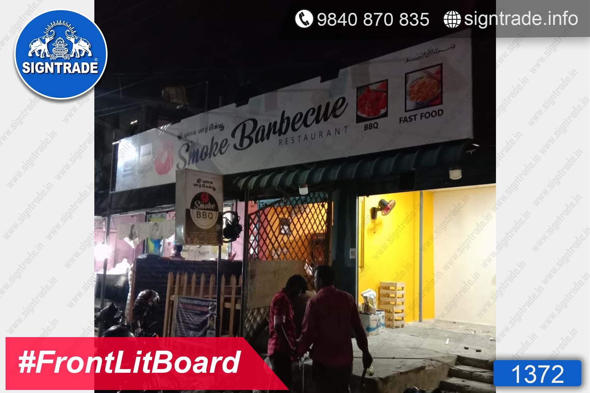 The Smoke Barbeque - Chennai - SIGNTRADE - Frontlit Flex Board - Digital Printing Services in Chennai