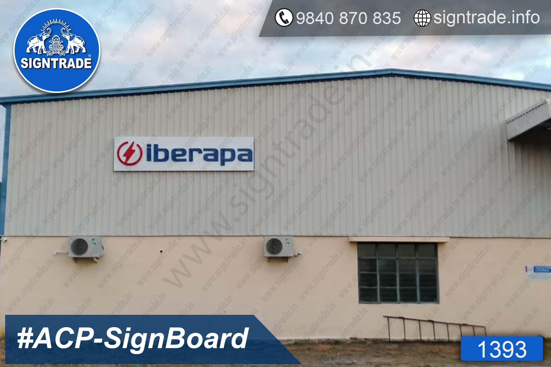 Iberapa India Private Limited - ACP Signboard - 1393, LED Sign Board, Sign Board, Acrylic Sign Board, Glow Sign Board, Custom Sign Board