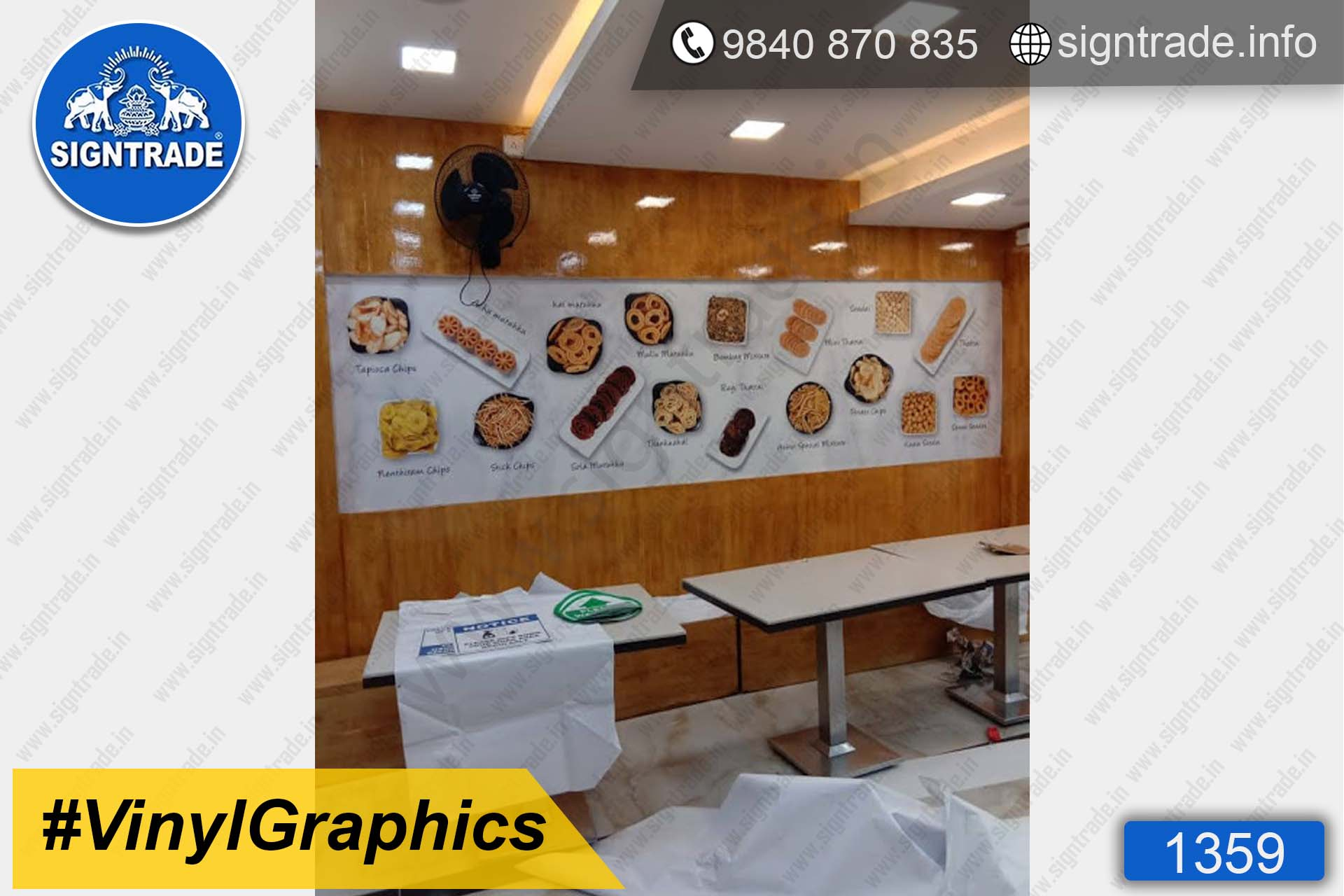 Aswin Sweets and Snacks - Chennai - Vinyl Graphics - SIGNTRADE - Custom Printed Wall Graphics in Chennai