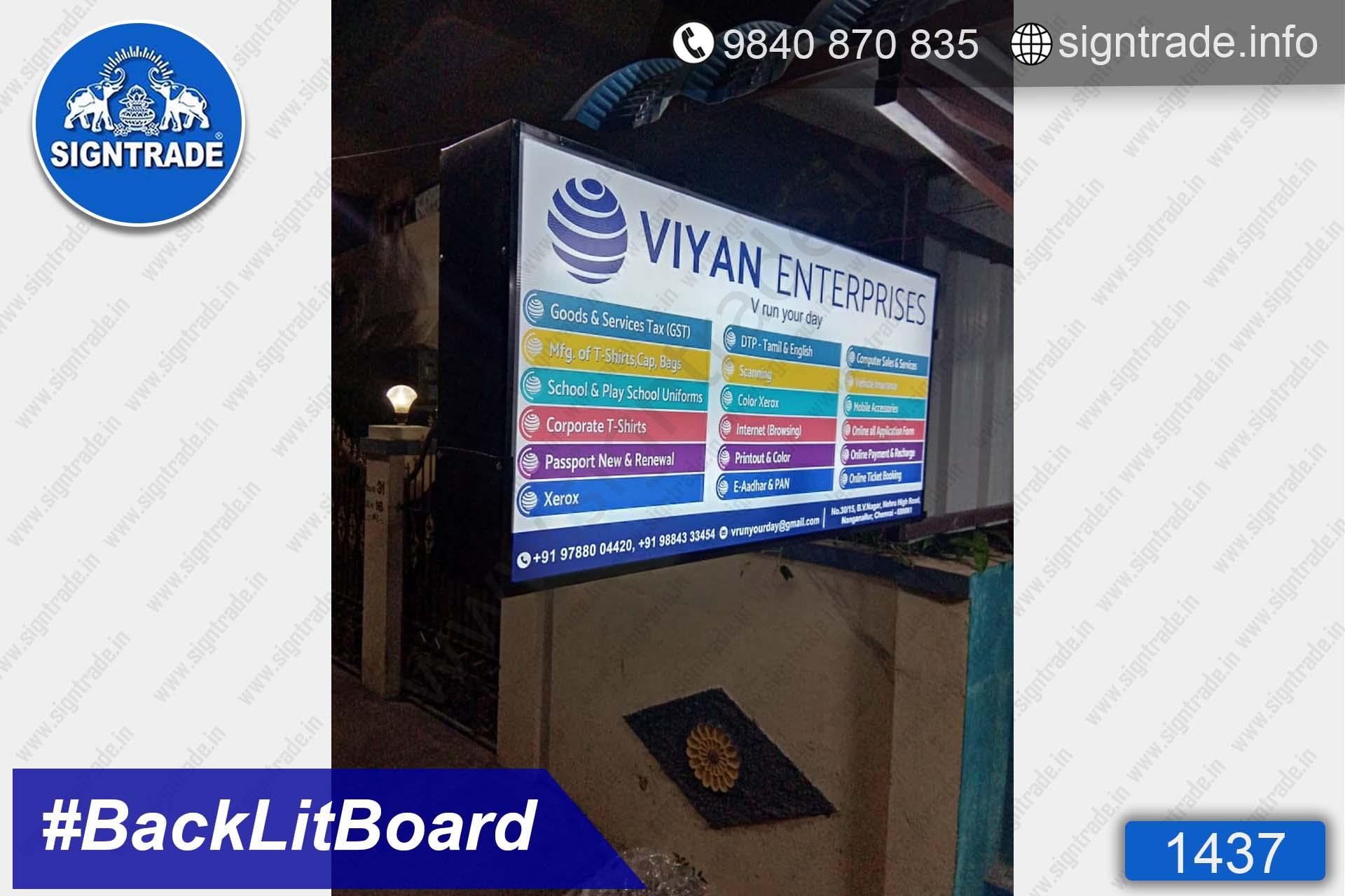 Viyan Enterprises - 1437, Flex Board, Frontlit Flex Board, Star Frontlit Flex Board, Frontlit Flex Banners, Shop Front Flex Board, Shop Flex Board, Star Flex