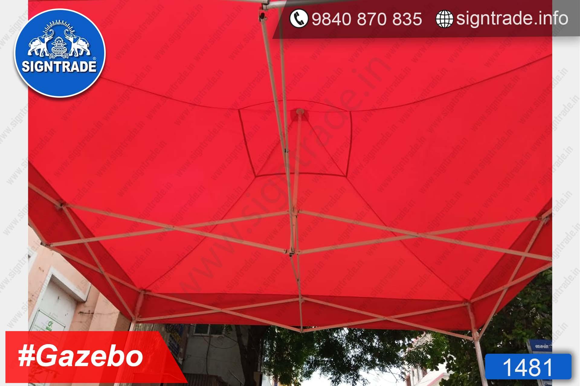 Harsha Toyota - Chennai - Promotional Gazebo - SIGNTRADE - Customised Promotional Gazebo Tent Manufacturer in Chennai