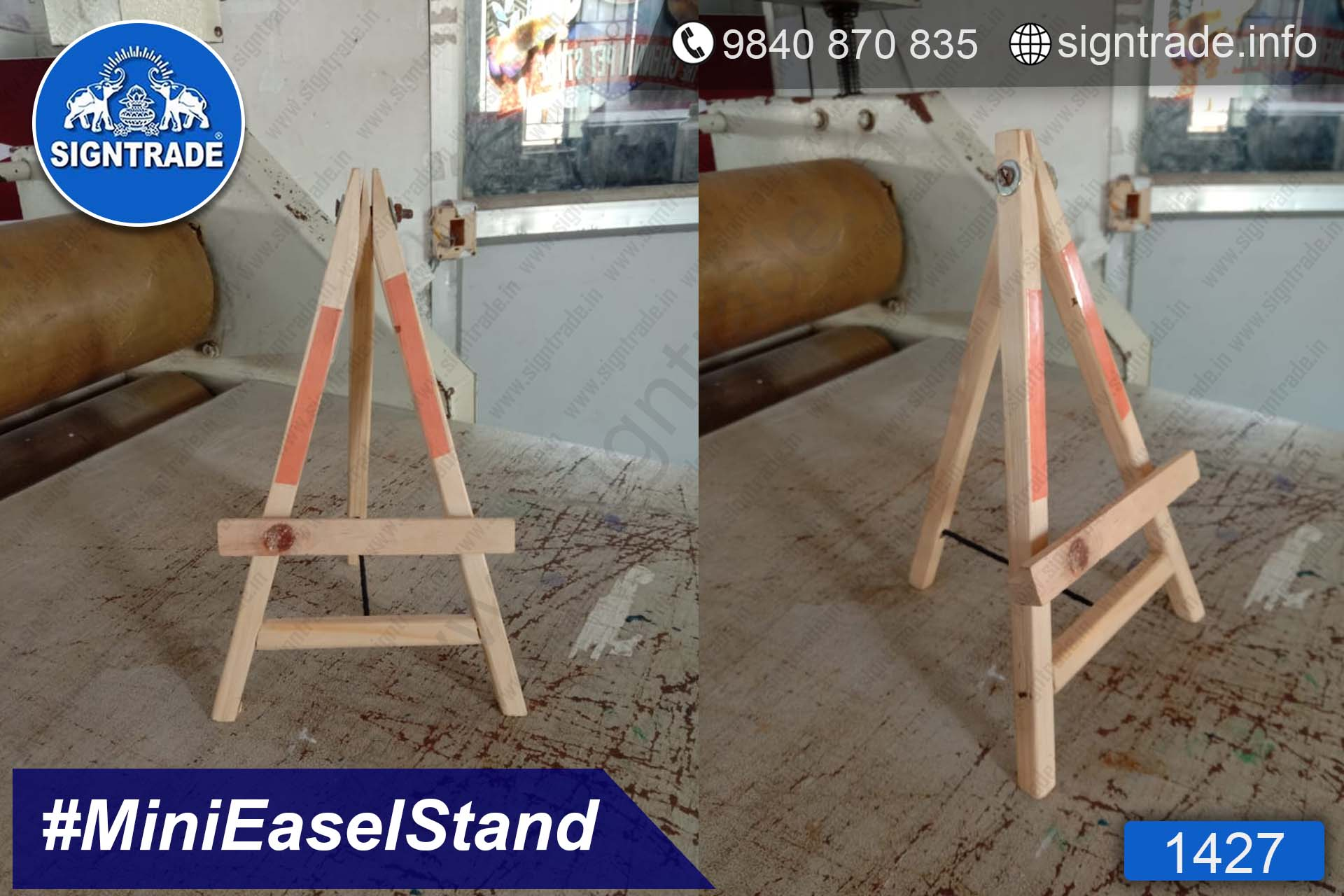 1427- LIC Consultant - Table top Mini Easel Stand - Wooden Stand, Table top Wooden Stand, Easel Stand