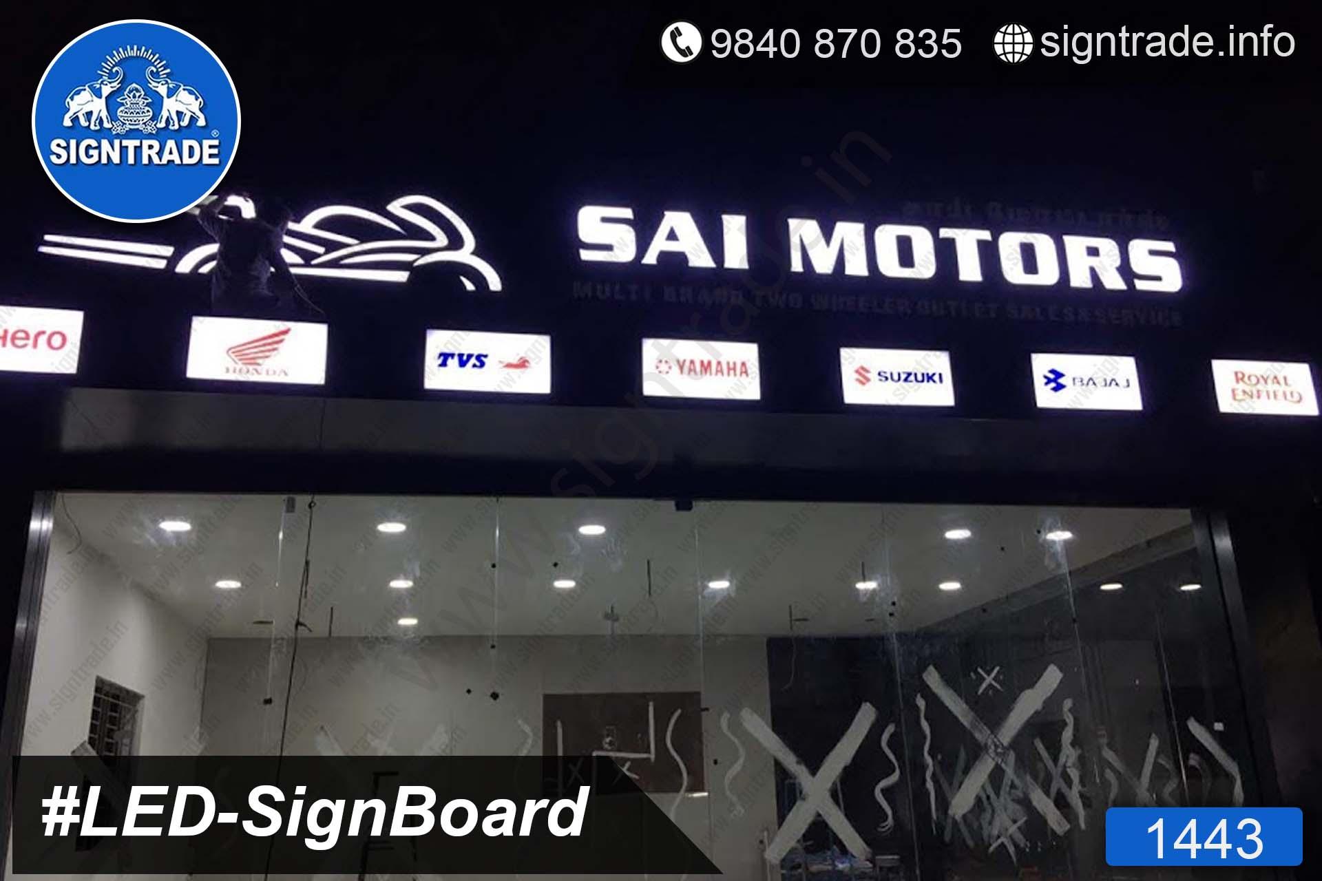 1443, LED Sign Board, Sign Board, Acrylic Sign Board, Glow Sign Board, Custom Sign Board