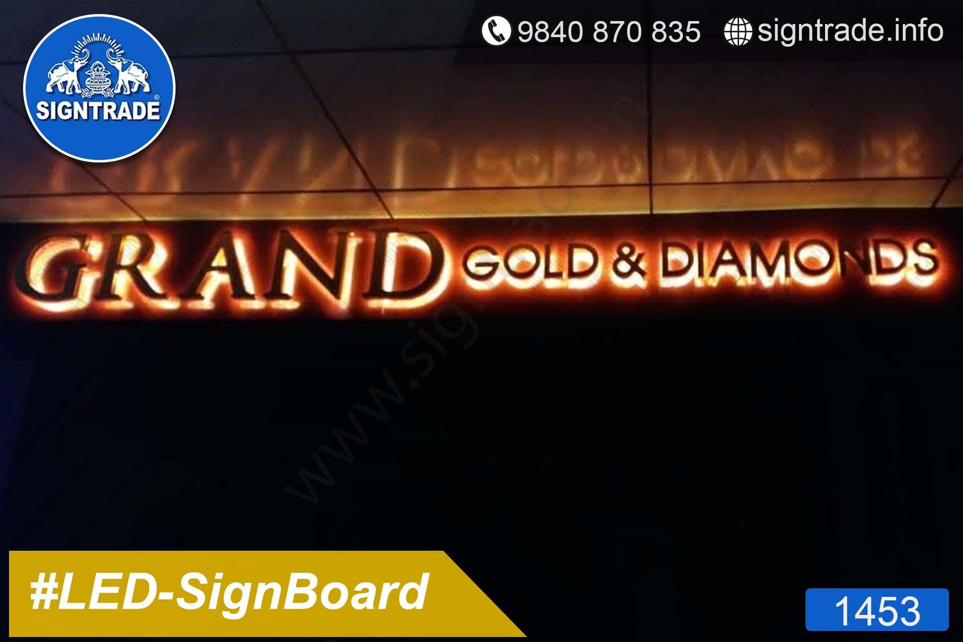 1453, LED Sign Board, Sign Board, Acrylic Sign Board, Glow Sign Board, Custom Sign Board - AL Arabian Delights - Grand Gold & Diamonds