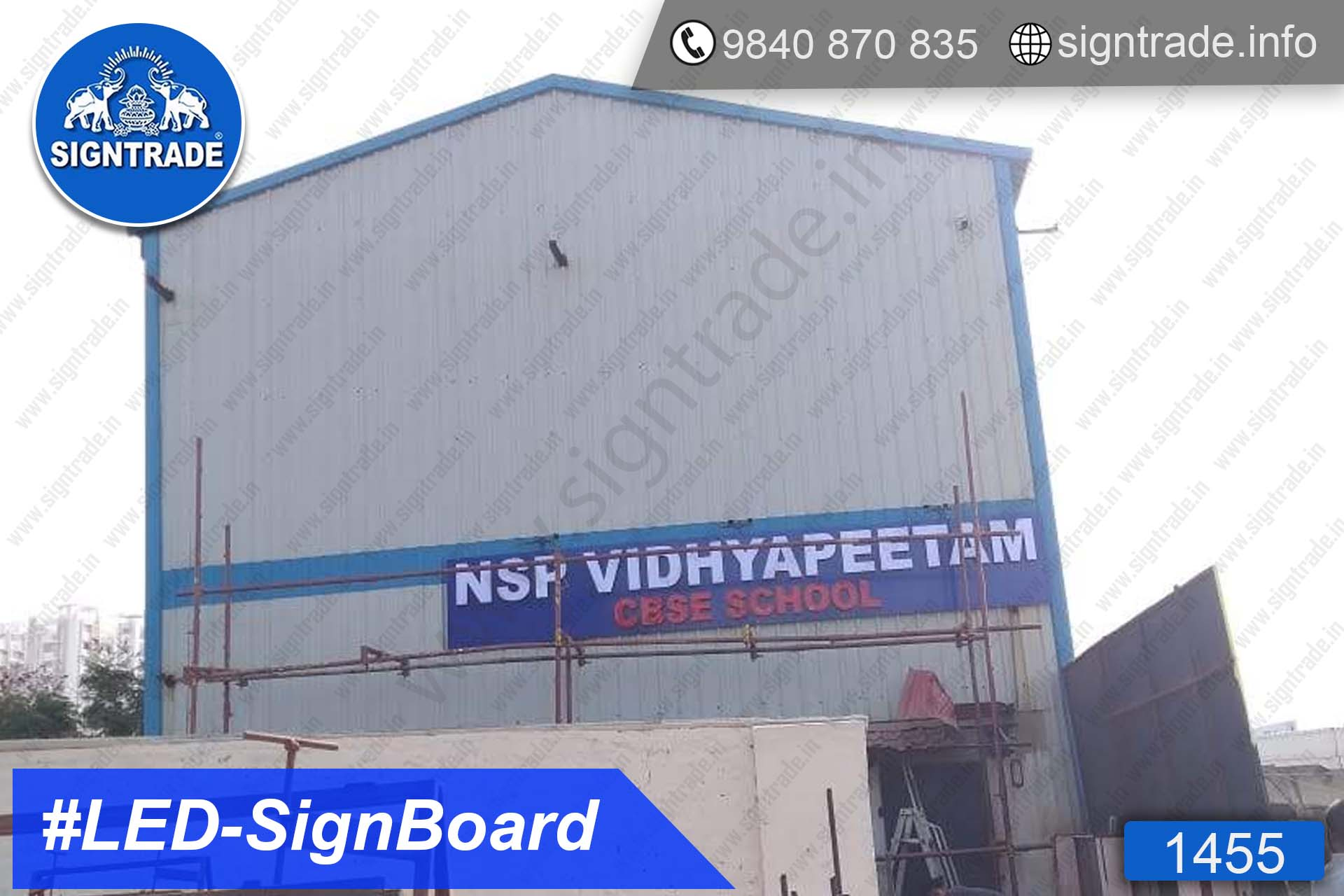 1455, LED Sign Board, Sign Board, Acrylic Sign Board, Glow Sign Board, Custom Sign Board - AL Arabian Delights - NSP Vidhyapeetam - CBSE SCHOOL