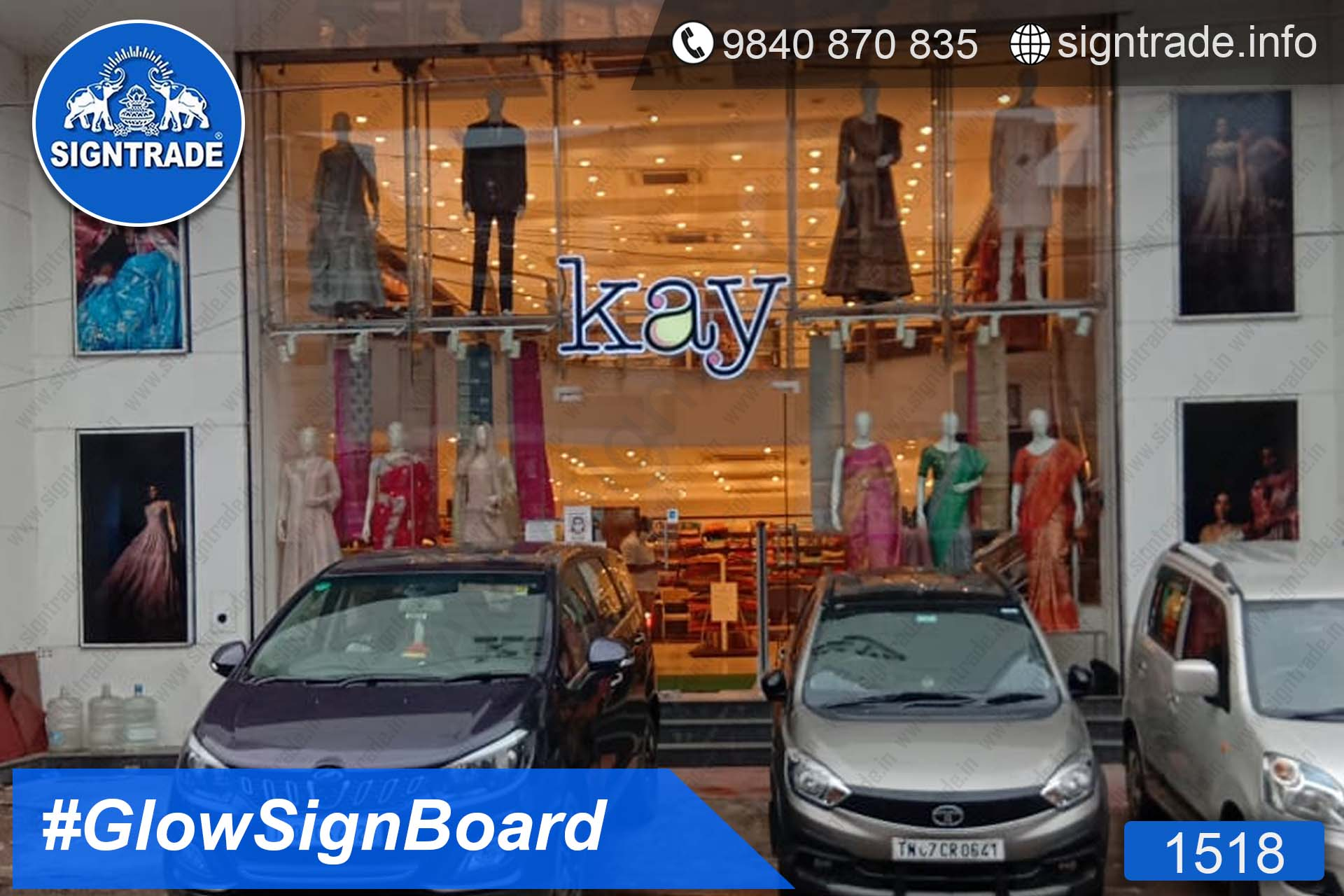 Kay The Fashion Bay, Purasaiwakkam, Chennai - SIGNTRADE - Acrylic ACP, LED Sign Board Manufacturers in Chennai