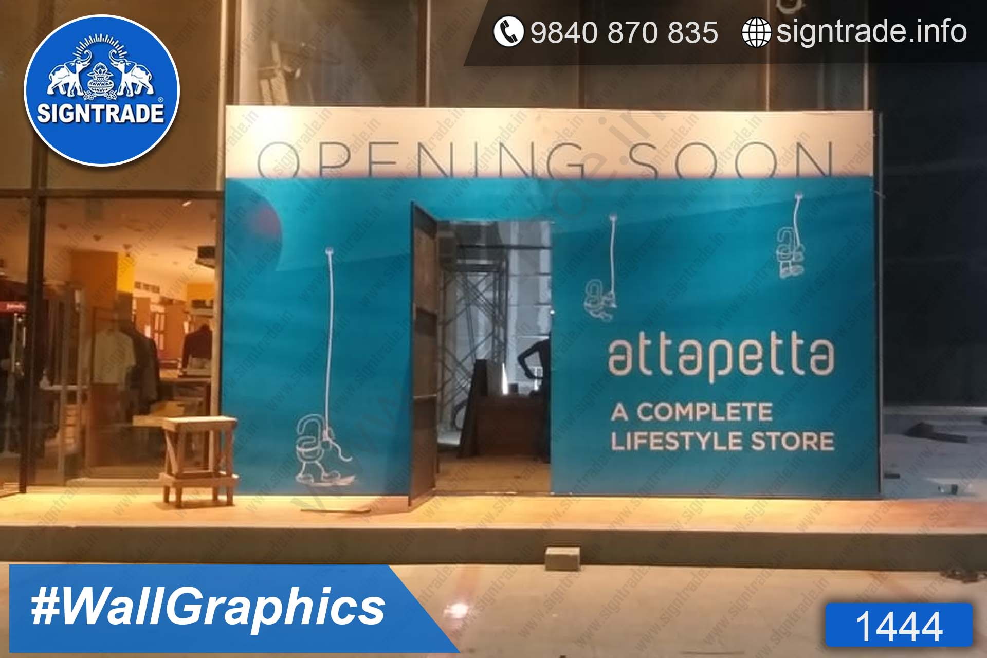Attapetta - 1444, Vinyl Graphics, Wall Graphics, Wall Wrapping, wall stickers, wall Wraps, Wall Branding