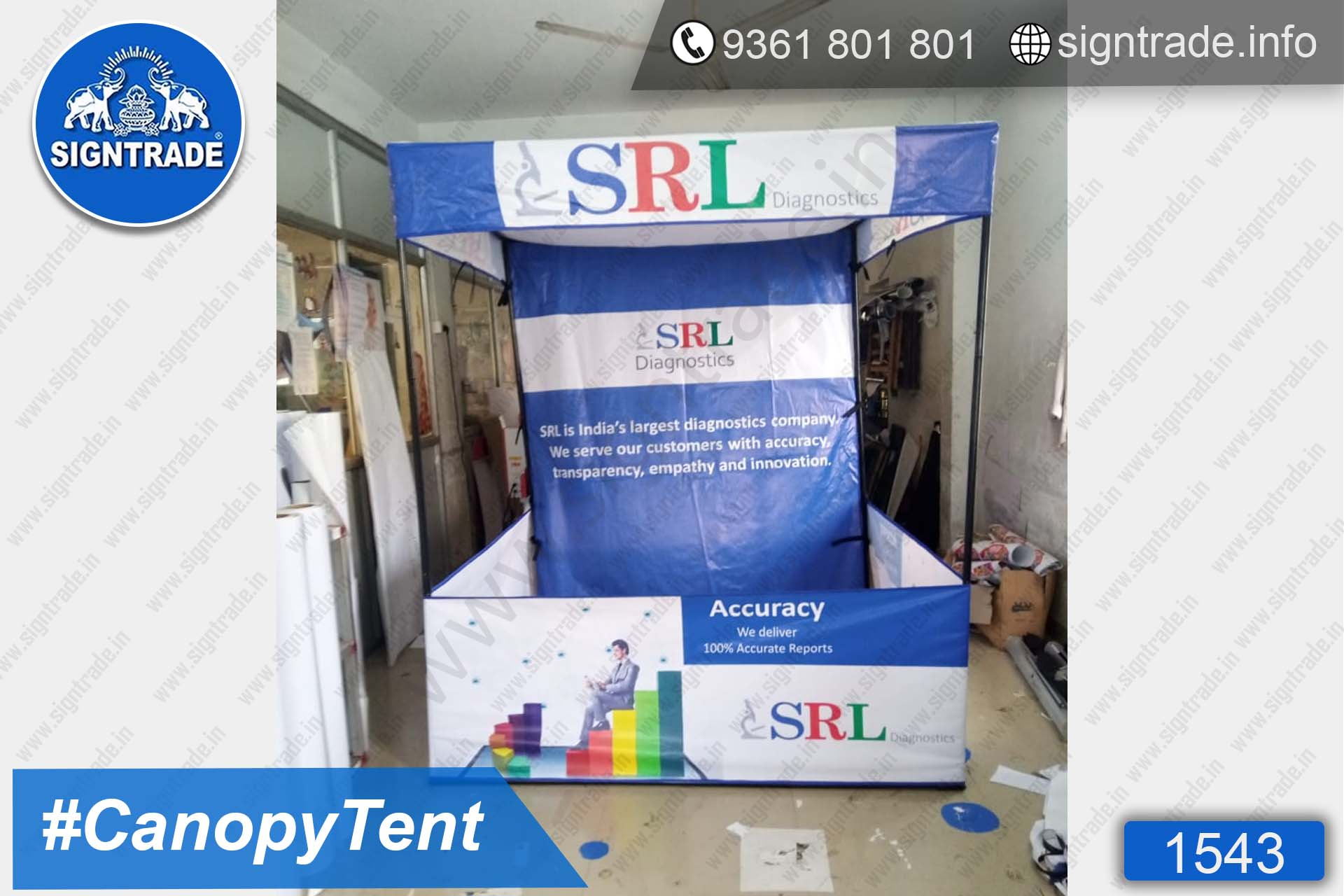 SRL Diagnostics - SIGNTRADE - Canopy Tent Manufactures in Chennai