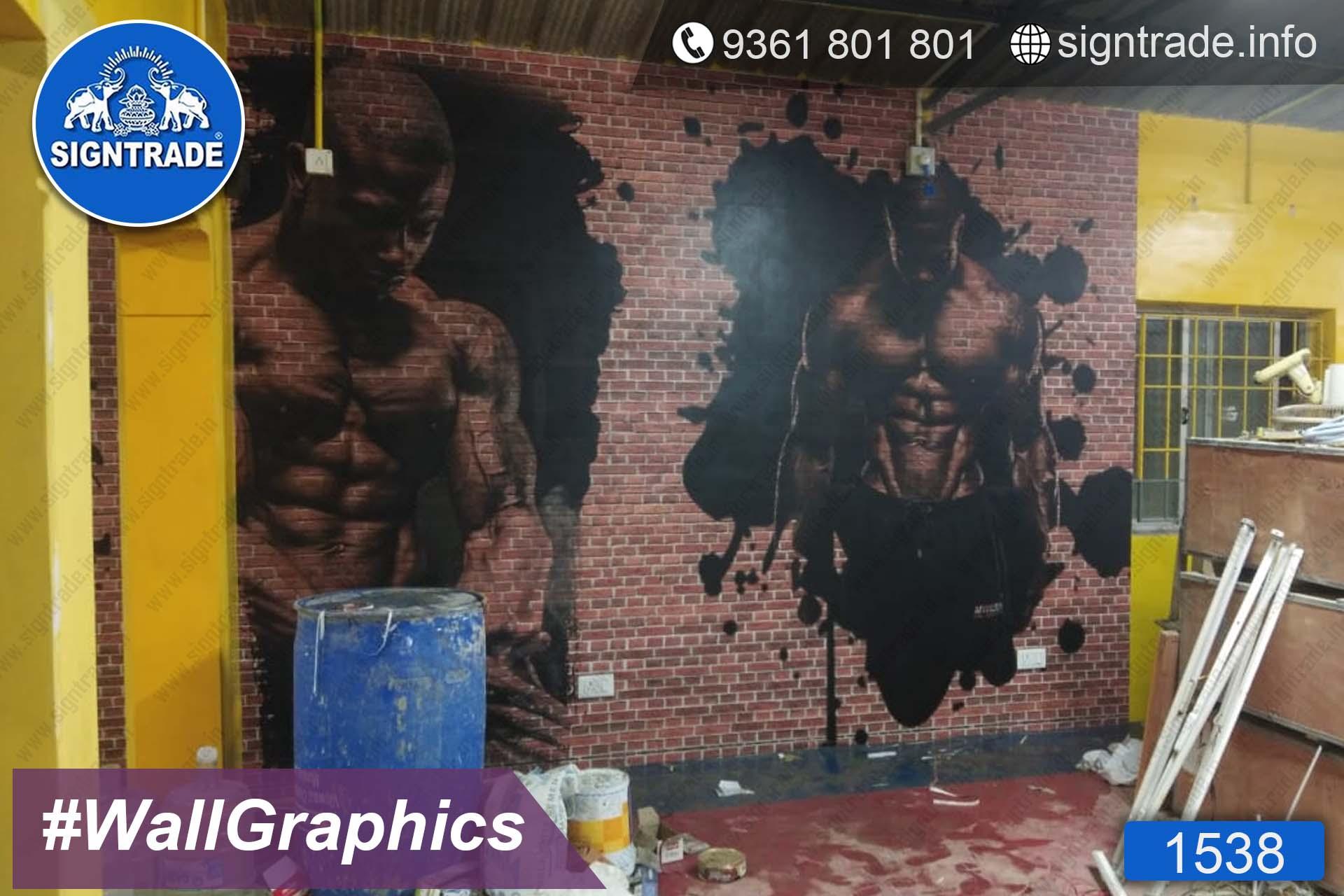 Global Gym - Chennai - SIGNTRADE - Wall Graphics - Vinyl Graphics on Wall - Digital Printing Services in Chennai